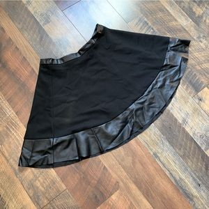 Black Forever21 Skirt with Leather-Looking Trim